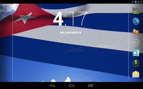 3D Cuba Flag Live Wallpaper - screenshot thumbnail
