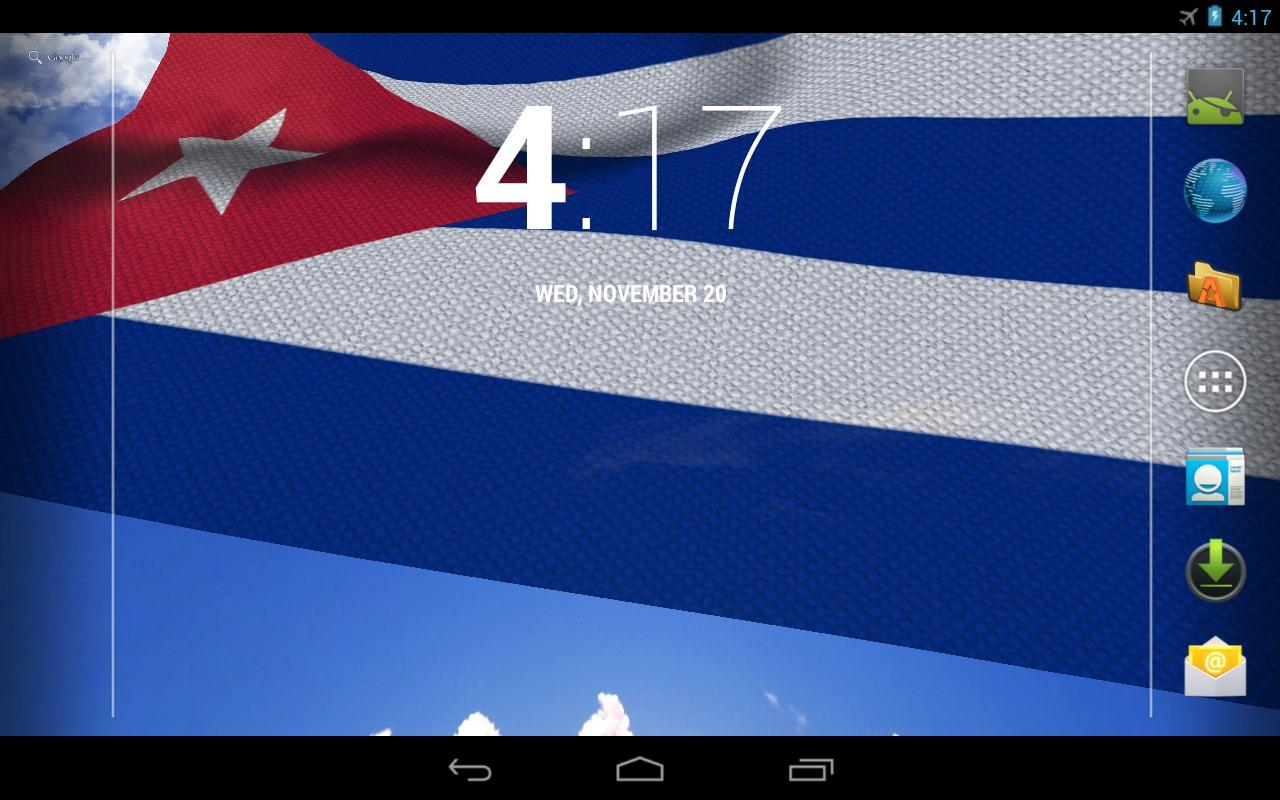 3D Cuba Flag Live Wallpaper - screenshot