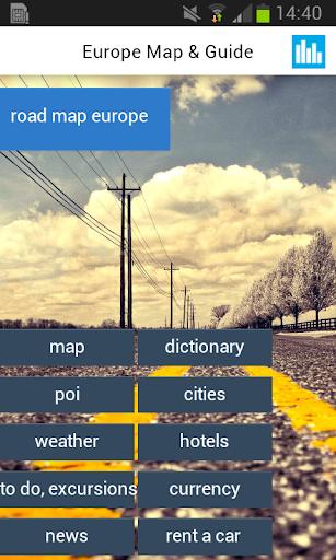 ヨーロッパオフライン地図と都市