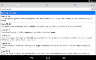 Screenshot of ESV Bible