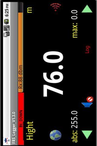 FRS logger for FrSky telemetry- screenshot