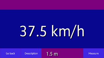 Screenshot of The speed measurement