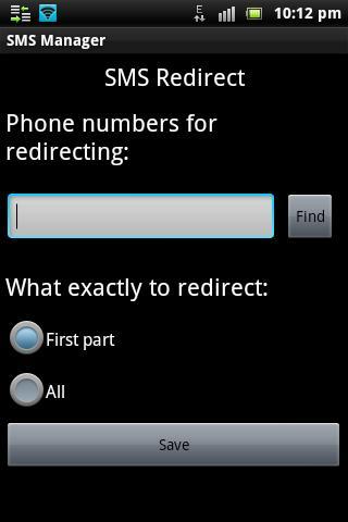SMS Manager- screenshot