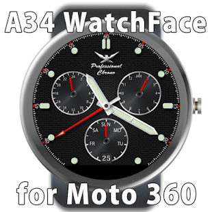 A34 WatchFace for Moto 360 - náhled