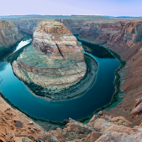 Horseshoe Bend by Photoxor AU - Landscapes Mountains & Hills ( tranquil, relax, page, arizona, rock, tranquility, relaxing, horseshoe bend, river,  )