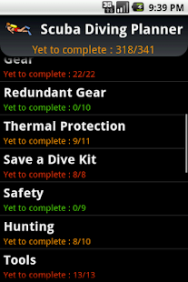 Scuba Diving Planner - screenshot thumbnail