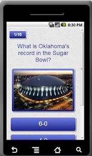 Oklahoma Sooners Trivia App - screenshot thumbnail