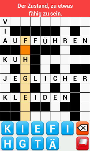 Kreuzworträtsel Deutsch Adfree screenshot