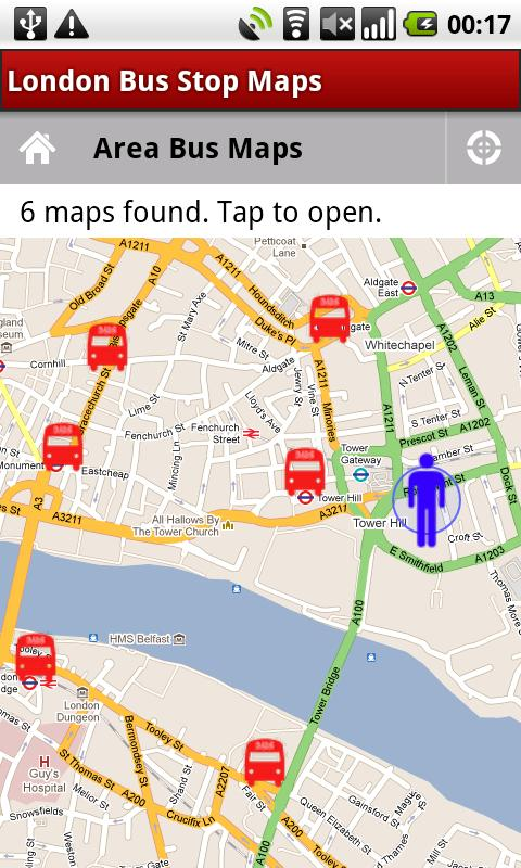 London Bus Stop Maps - screenshot