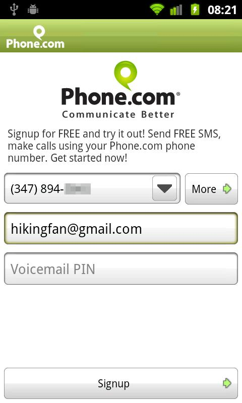 Phone.com - Mobile Office- screenshot