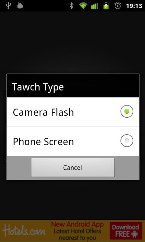 Tawch (Torch/Flashlight App)- screenshot