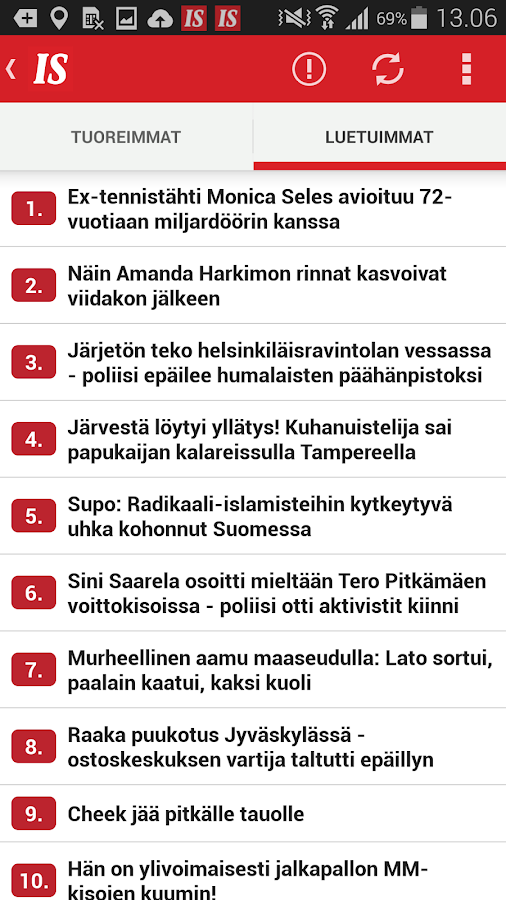 Ilta-Sanomat- screenshot