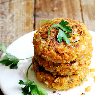 Chickpea Onion Patties (non-deep fried Felafels).