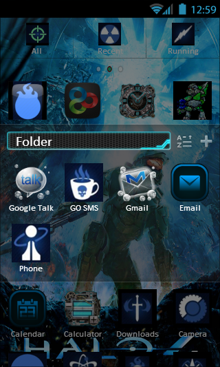 Halo 4 Theme - GO LAUNCHER EX - screenshot