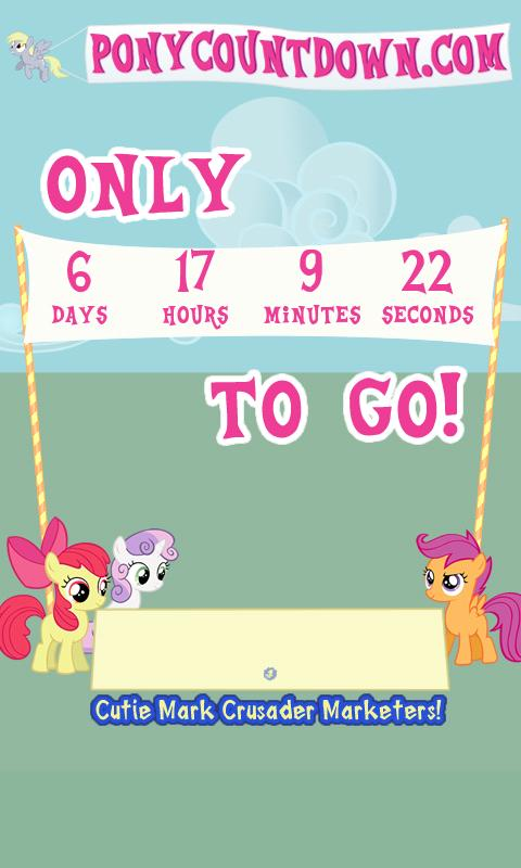 PonyCountdown - screenshot