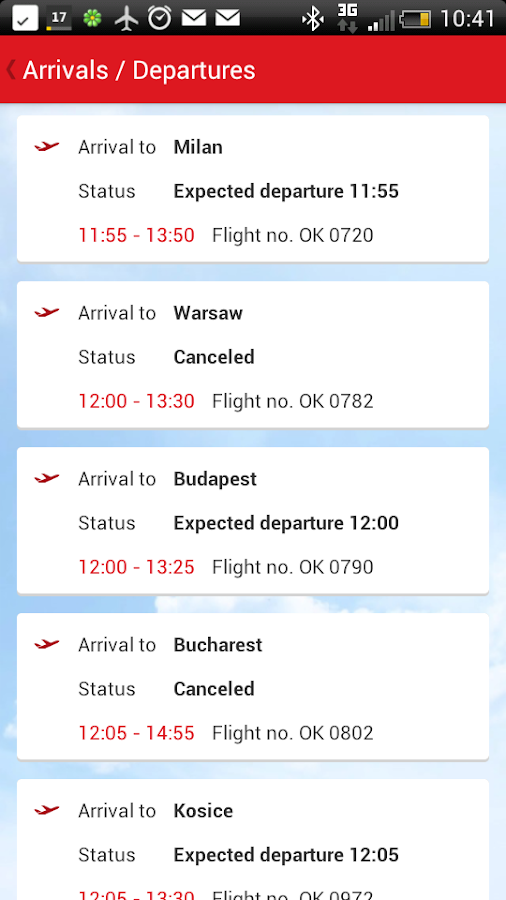 Czech Airlines - screenshot