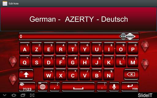 SlideIT German AZERTY Pack