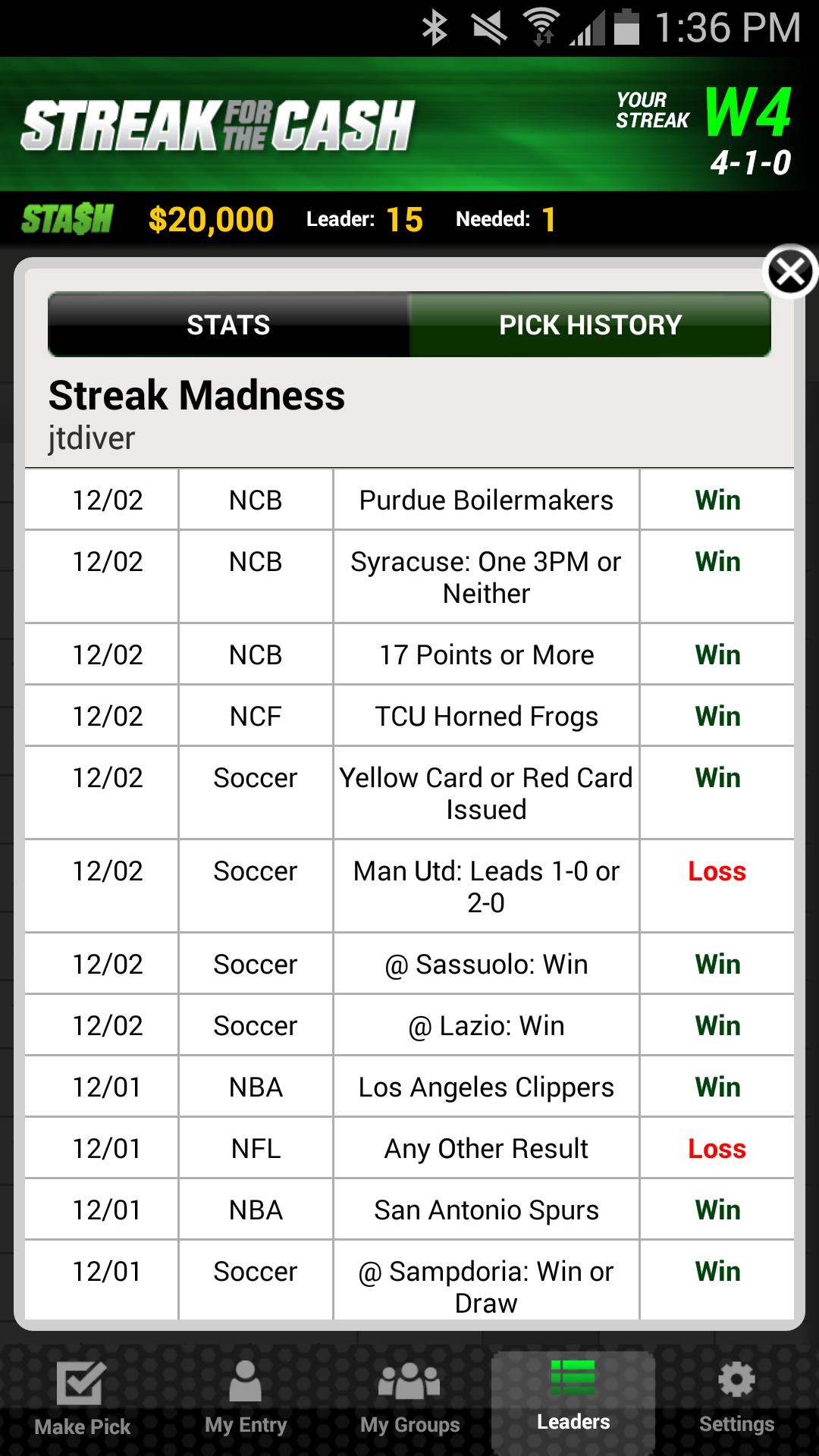 ESPN Streak For The Cash screenshot #8