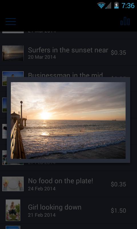 Microstockr - screenshot