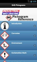 Screenshot of GHS Pictogram Reference