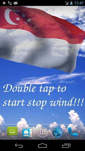 3D Singapore Flag LWP