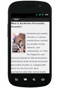 BorderlinePersonality Disorder - screenshot thumbnail