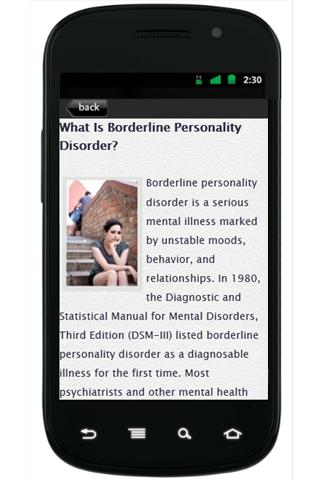 BorderlinePersonality Disorder- screenshot