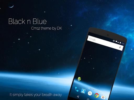 Black n Blue CM12 theme
