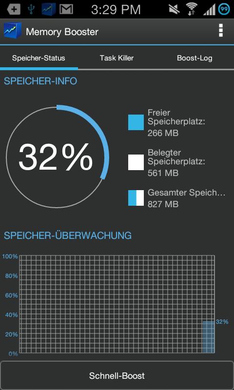 Speicher-Beschleuniger - screenshot