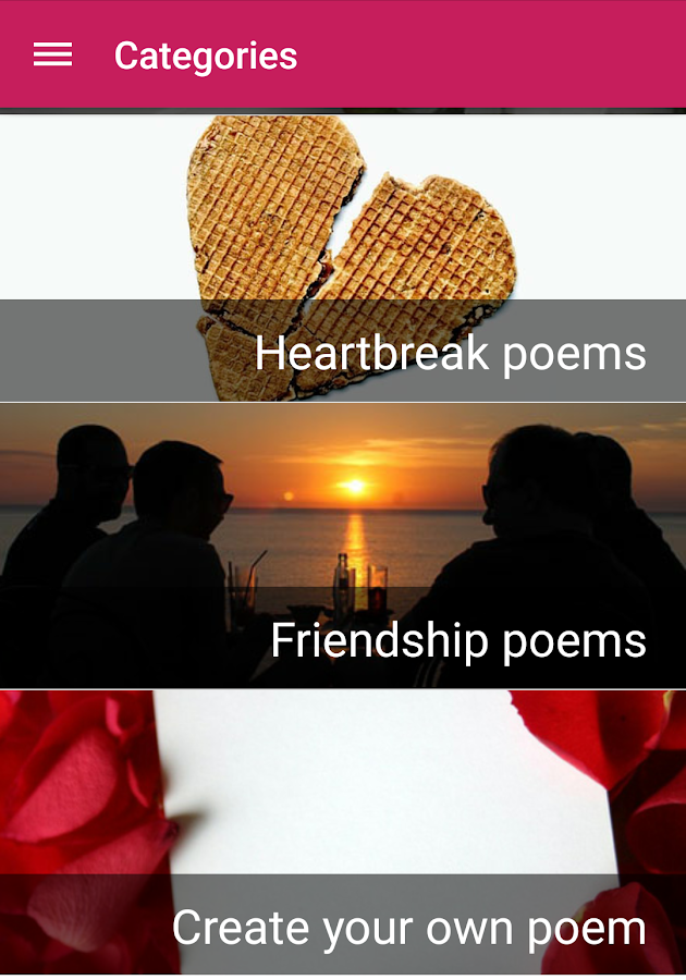 Love poems- screenshot
