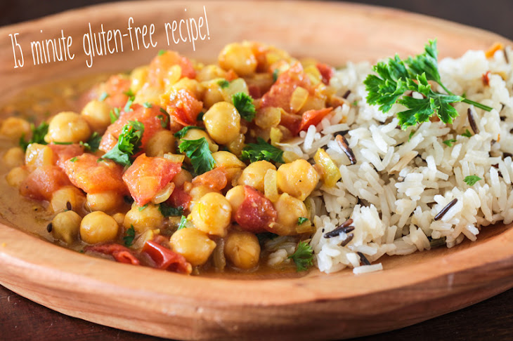 Indian Chickpea Dal with Coconut Broth and Basmati Rice Recipe