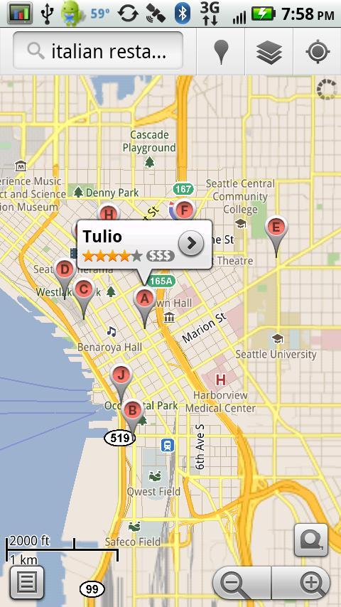 Restaurants- screenshot