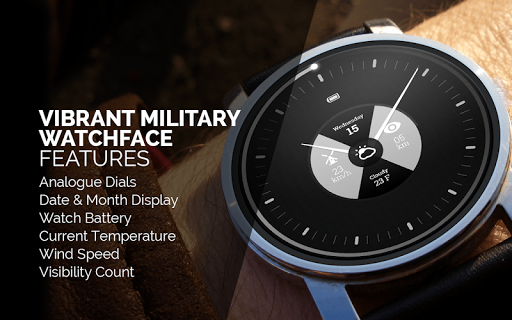Vibrant Military Watch Face
