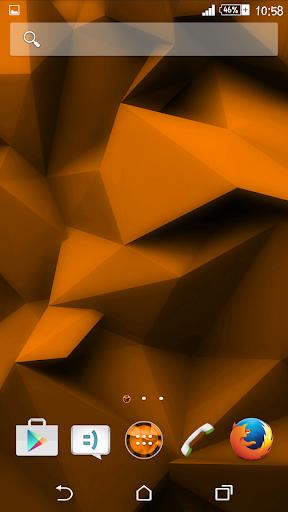 Orange Polygons Theme By Arjun