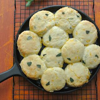 Easy Cheddar Sage Biscuits.