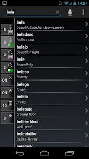 Free Dict Esperanto English- screenshot thumbnail