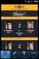 Screenshot of Bet 2 Win - Tennis Betting