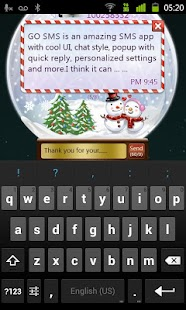 GO SMS Pro Snowlove Popup them- screenshot thumbnail