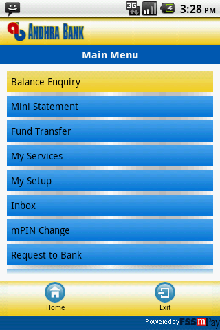 Andhra Bank - screenshot