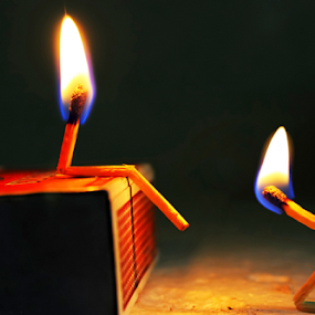 Yes.. I burned your life, but I am also in Flames!! by Arnab Choudhury - Artistic Objects Other Objects