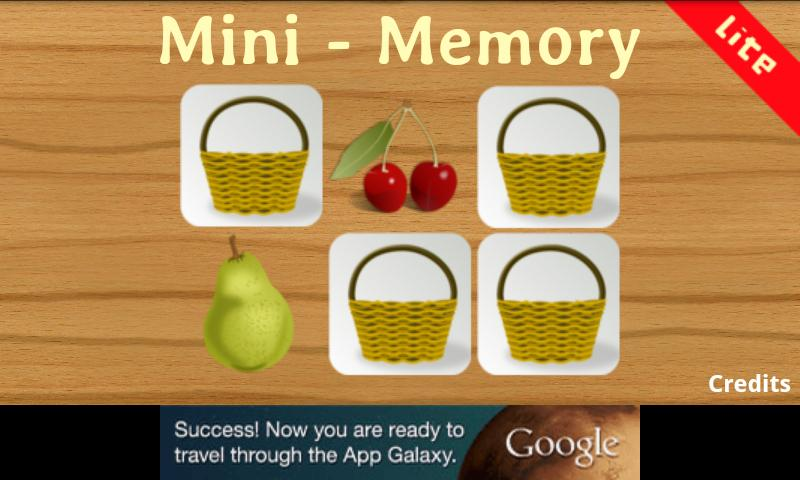 Mini Memory Kid Lite- screenshot