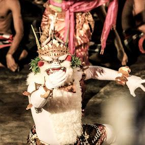 Hanoman, Kecak Dance by Daniel Rico Sukoyo - People Musicians & Entertainers