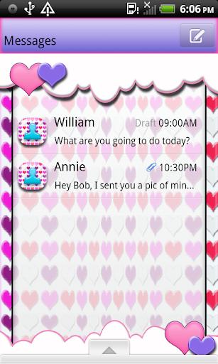 SweetHeart4U2 GO SMS THEME