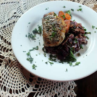 Braised Pork and Red Cabbage.
