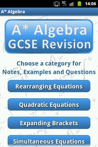 A* Revision: Algebra