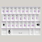 White and Purple Keyboard Skin icon