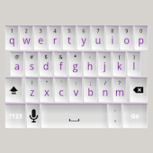 White and Purple Keyboard Skin