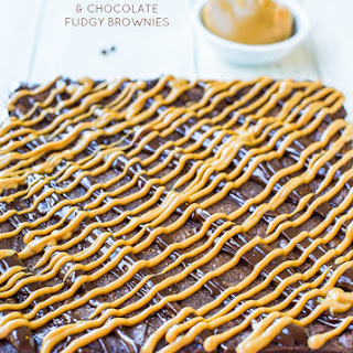 Flourless Peanut Butter and Chocolate Fudgy Brownies (gluten-free)