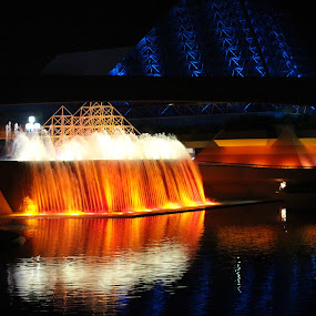 Imaginations EPCOT by Kimmarie Martinez - City,  Street & Park  Fountains ( walt disney world, waterscape, fountain, epcot, imagination,  )