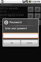 Screenshot of SecureNotes